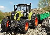 WIM-SHOP RC Traktor CLAAS Axion 870 + Anhänger in XL Länge 72cm Ferngesteuert