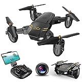 ScharkSpark Drohne Guard für Anfänger, Drohne mit FPV HD Kamera/Video, Tragbarer RC-Quadcopter, 2,4 G 6-Achsen Kopflos-Modus Höhe halten Ein-Tasten-Rückkehr 3D-Flips und Rollen Spielzeug